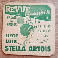 VIEUX SOUS BOCKS BRASSERIE ARTOIS LOUVAIN REVUE VIENNOISE LIEGE 1963 - Portavasos