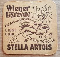 VIEUX SOUS BOCKS BRASSERIE ARTOIS LOUVAIN WIENEREISREVUE  LIEGE LUIK 1959 - Portavasos