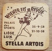 VIEUX SOUS BOCKS BRASSERIE ARTOIS LOUVAIN WIENER EIS REVUE  LIEGE LUIK 1958 - Portavasos