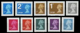Großbritannien 2009 - Mi-Nr. 2725-2734 ** - MNH - Freimarken - Queen Elizabeth - Ongebruikt