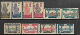 Gabon  1910-22  10 Diff MH To The 50c  2016 Scott Value $9.25 - Used Stamps