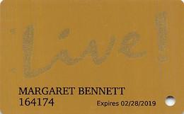 Maryland Live Casino - Hanover, MD - Slot Card - Oval Logo On Reverse - Casinokaarten