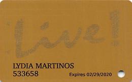 Maryland Live Casino - Hanover, MD - Slot Card - Text Logo On Reverse - Casinokaarten