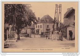 19) ALLASSAC (CORREZE) ROUTE DE GARAVET  - (ANIMEE - PASSAGE A NIVEAU - 2 SCANS) - Andere Gemeenten