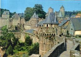 Dept 35,Ille Et Vilaine,Cpm Fougères,Les Remparts Et Le Château - Fougeres