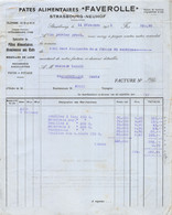 18401  30-1777    1933 PATES ALIMENTAIRES FAVEROLLE A STRASBOURG NEUHOF A STRASBOURG - M. YAMANN A GRANDFONTAINE - 1900 – 1949