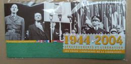 """FRANCE De 1944 2004 """" Débarquements Et Libération - Neuf Sous Blister Les Grands Hommes - Foglietti Commemorativi"""