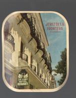Jerez De La Frontera (Espagne) étiquette HOTEL LOS CISNES (PPP30447) - Publicidad