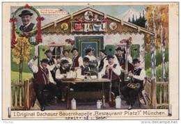 B14- MUNCHEN - MUNICH   - I. ORIGINAL DACHAUER BAUERNKAPELLE - RESTAURANT PLATZ ' I (CARTE GAUFRÉE - 2 SCANS) - München