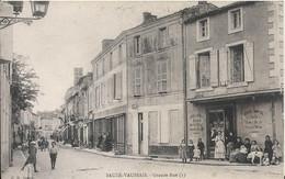 Carte Postale Ancienne De Sauzé Vaussais La Grande Rue - Sauze Vaussais