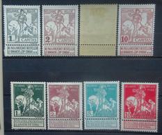 BELGIE  1910    Nr. 84 - 91   Spoor Van Scharnier *       CW 35,00 - 1910-1911 Caritas