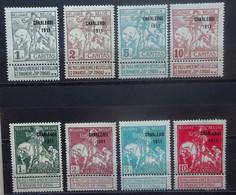 BELGIE  1911     Nr. 100 - 107      Spoor Van Scharnier *       CW 90,00 - 1910-1911 Caritas