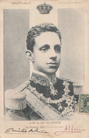 S. M. EL REY DE ESPANA - ALFONSO XIII - 17 MAYO 1902- TARJETA SALVI - FOT LAURENT MADRID - OBLITERATION 1902 - 2 SCANS - Madrid