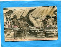 DAHOMEY-A OF-porto Novo- Gos Plan  Sur Le Marché-- Animée A Voyagé En 1913 édition Fortier - Dahomey