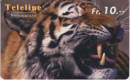 SWITZERLAND - PHONE CARD - PRÉPAYÉE TELELINE  ***  TIGRE *** - Jungle