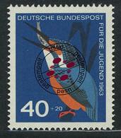 404 Jugend Einheimische Vögel 40+20 Pf Eisvogel O - Ohne Zuordnung