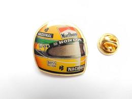 Beau Pin's Pins , Auto F1 , Casque Ayrton Senna , Honda , Tabac Marlboro - F1