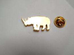 Superbe Pin's Pins Stylisé , Rhinocéros - Animali