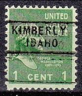 USA Precancel Vorausentwertung Preo, Locals Idaho, Kimberly 729 - Precancels