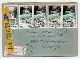 - Lettre Recommandée KRAKOW (Pologne) Pour RUEIL-MALMAISON (France) 5.7.1993 - Bel Affranchissement Philatélique - - Covers & Documents