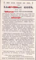 OORLOG GUERRE Leon Goes Oostende GESNEUVELD Bombardement Op De Watertoren Van Middelkerke 4 Aug 1944 - Imágenes Religiosas
