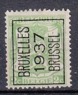 BELGIË - PREO - 1937 - Nr 321 A  - BRUXELLES 1937 BRUSSEL - (*) - Sobreimpresos 1936-51 (Sello Pequeno)