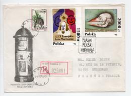 - Lettre Recommandée LEGNICA (Pologne) Pour SURESNES (France) 24.8.1994 - Bel Affranchissement Philatélique R/V - - Covers & Documents