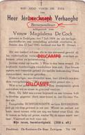 OORLOG GUERRE Jerome Verhaeghe Zedelgem Ontmijner SOLDAAT Gesneuveld Landmijn Ontploffing Te Stene Oostende 1945 - Imágenes Religiosas