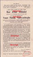 OORLOG GUERRE Schinkel Vanwynsberghe Oostende Bombarement Gesneuveld Aldaar 27 Mei 1940  Mariakerke Stene - Imágenes Religiosas
