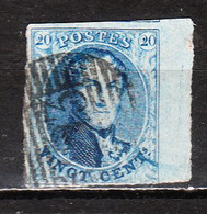 7 Ou 11  Médaillon Non Dentelé - Quasi Margé - Grand Bord De Feuille + Voisin - Oblit. - LOOK!!!! - 1851-1857 Medaillen (6/8)