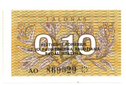 Lituania - 0.10 Talonas 1991 - Lituanie