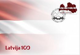 Latvia Lettland Lettonie 2018  Latvian National Flag FDC - Lettonie