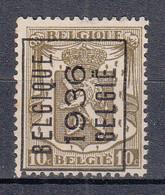 BELGIË - PREO - 1936 - Nr 312 A (Met Keurstempel) - BELGIQUE 1936 BELGIË - (*) - Sobreimpresos 1936-51 (Sello Pequeno)