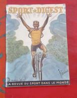 Sport Digest N°33 Août 1951 Tour De France Hugo Koblet Fausto Coppi Louison Bobet Cunningham 24 Heures Du Mans - Sport