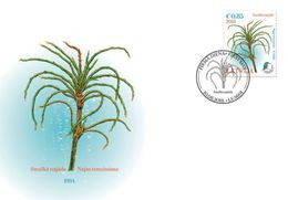 2018 Latvia Lettland Lettonie Aquatic Plant - - Bird - Kingfisher Stamp  FDC - Lettonie