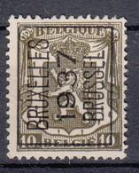 BELGIË - PREO - Nr 328 A  - BRUXELLES 1937 BRUSSEL - (*) - Sobreimpresos 1936-51 (Sello Pequeno)