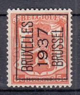 BELGIË - PREO - Nr 324 A - BRUXELLES 1937 BRUSSEL - (*) - Sobreimpresos 1936-51 (Sello Pequeno)