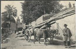 LOZERE : Langogne, Le Vendeur De Buttes Dans Les Rues De Langogne - Langogne