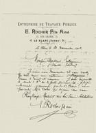 LE BLANC INDRE 25 RUE GRANDE E. ROCHER FILS AINE ENTREPRISE DE TRAVAUX PUBLICS 1902 - 1900 – 1949