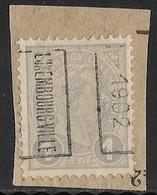 Luxemburg  1902  Prifix Nr.  7B Op Fragment - Precancels
