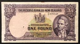 NUOVA Zelanda New Zealand 1 POUND 1940-1945 Pick#159a Lotto 371 - New Zealand