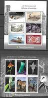 TONGA, 2021, MNH, SMITHSONIAN MUSEUM, FLORA,  FISH, HORSES,  MINERALS, CATERPILLARS, FLOWERS, TRAIN, MUSIC, 2 SHEETLETS - Museums
