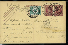 Entier N° 70.I.FN. - Houyoux - Obl. VERVIERS - 2 A - 20/07/1928 Taxé Bxl - Lettres