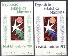 Spain 1958. Exposicion De Bruselas  Ed 1222-23 (**) - 1951-60 Ungebraucht