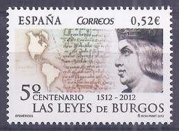 Spain 2013.Leyes De Burgos 4780 (**) - 2011-... Nuovi & Linguelle