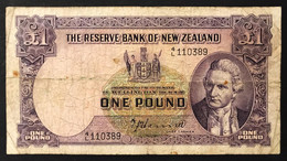 NUOVA Zelanda New Zealand 1 POUND 1940-1945 Pick#159a Lotto 440 - New Zealand