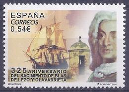 Spain 2014. Blas De Lezo. Ed: 4869 Mnh(**) - 2011-... Nuovi & Linguelle