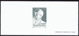 2005 Gravure Raymon Aron Sur Papier Velin  - Philosophe Et Sociologue - Documents Of Postal Services