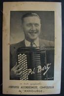 CP. 3786. Pol Bert Virtuose Accordéoniste Compositeur De Radio-Liège - Non Classés