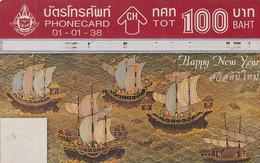 THAILAND(L&G) - Happy New Year 1995, Calendar 1995, TOT Telecard 100 Baht, CN : 451B, Used - Thailand